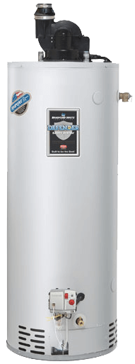 Brandford White power vent water heater