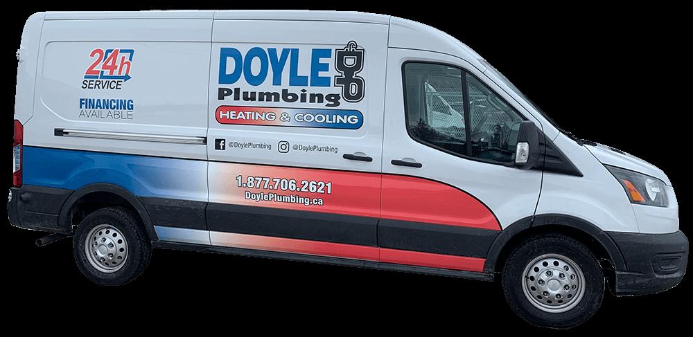 Doyle plumbing heating & cooling truck
