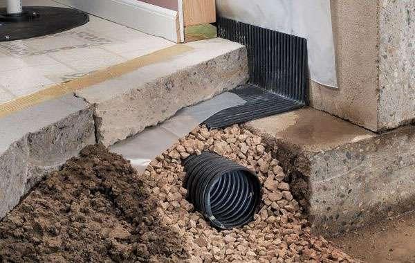 Interior wet basement repair