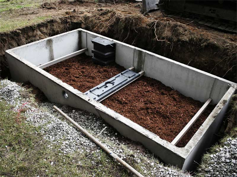 Septic system tank