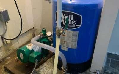 New deep well jet pump and pressure tank installation