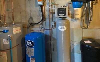 Water heater pressure tank sanitizer UV water treatment