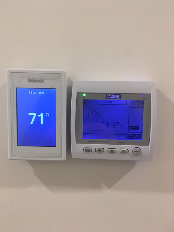 Controls and thermostat