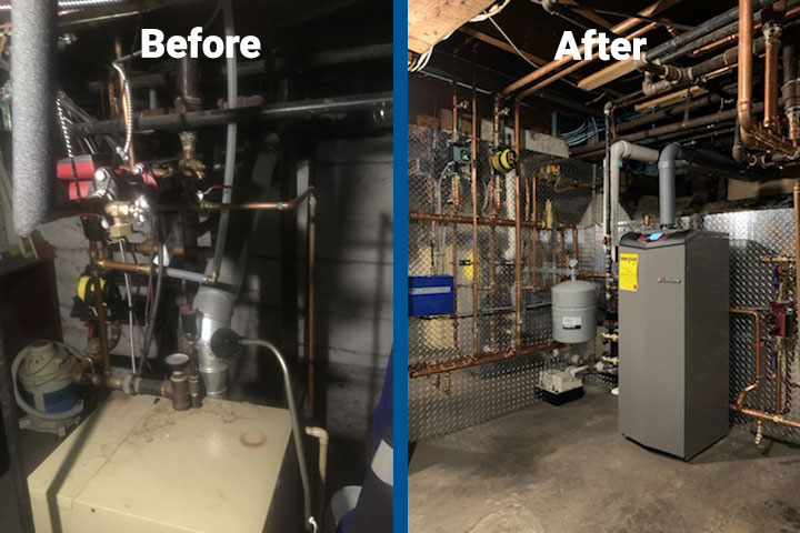 Residential boiler upgrade