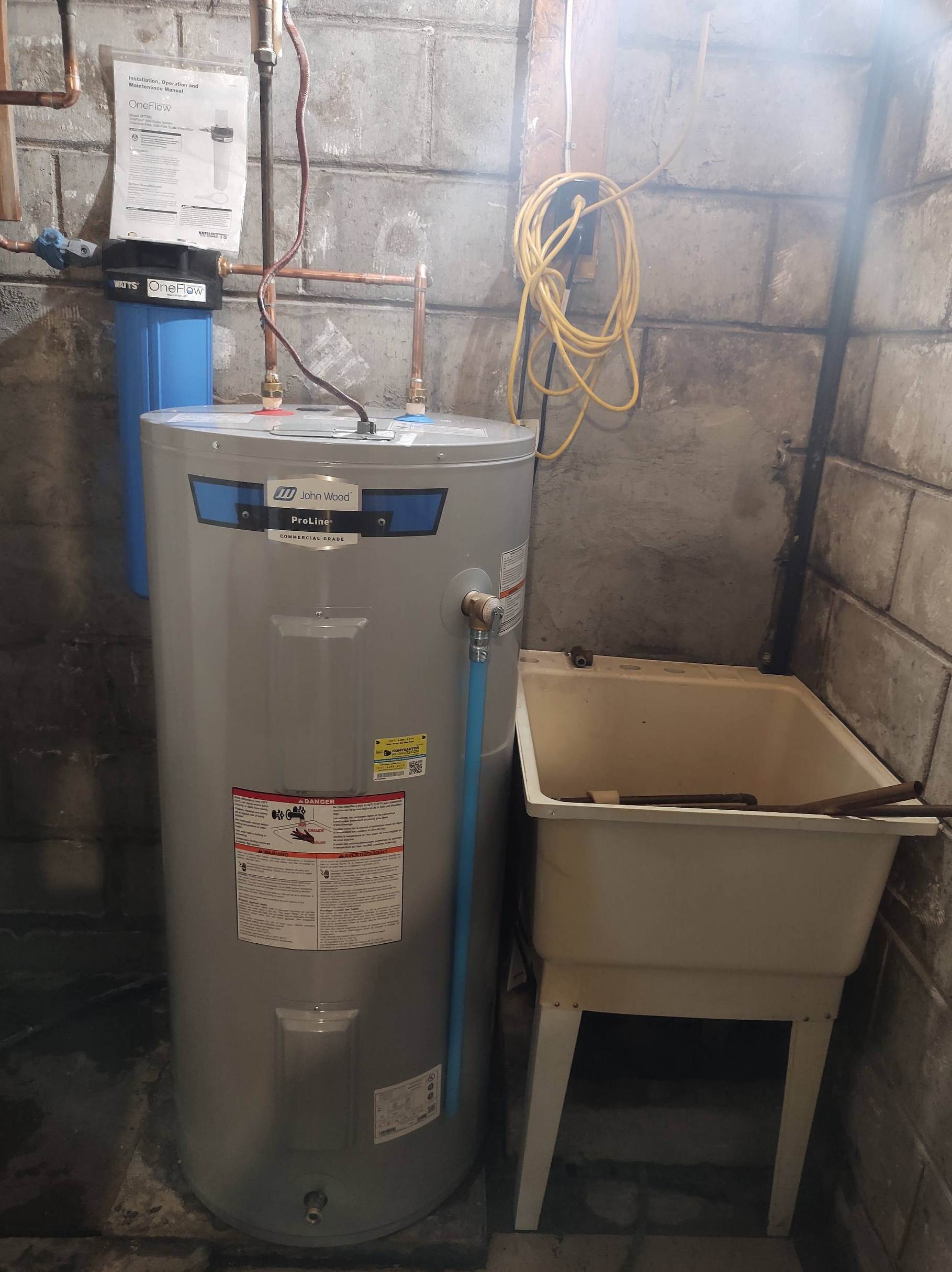 John Wood hot water tank install Hampton
