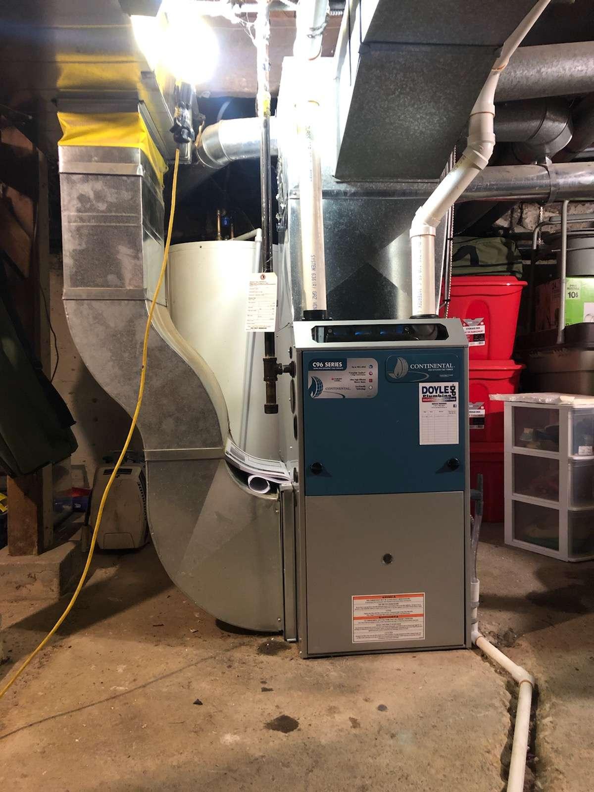 Continental furnace installation