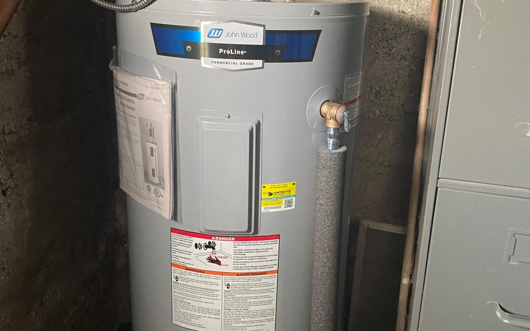 Port Hope hot water tank install