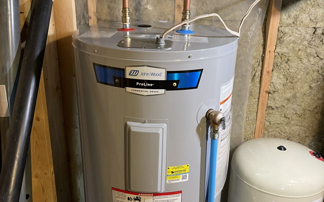 New electric hot water tank