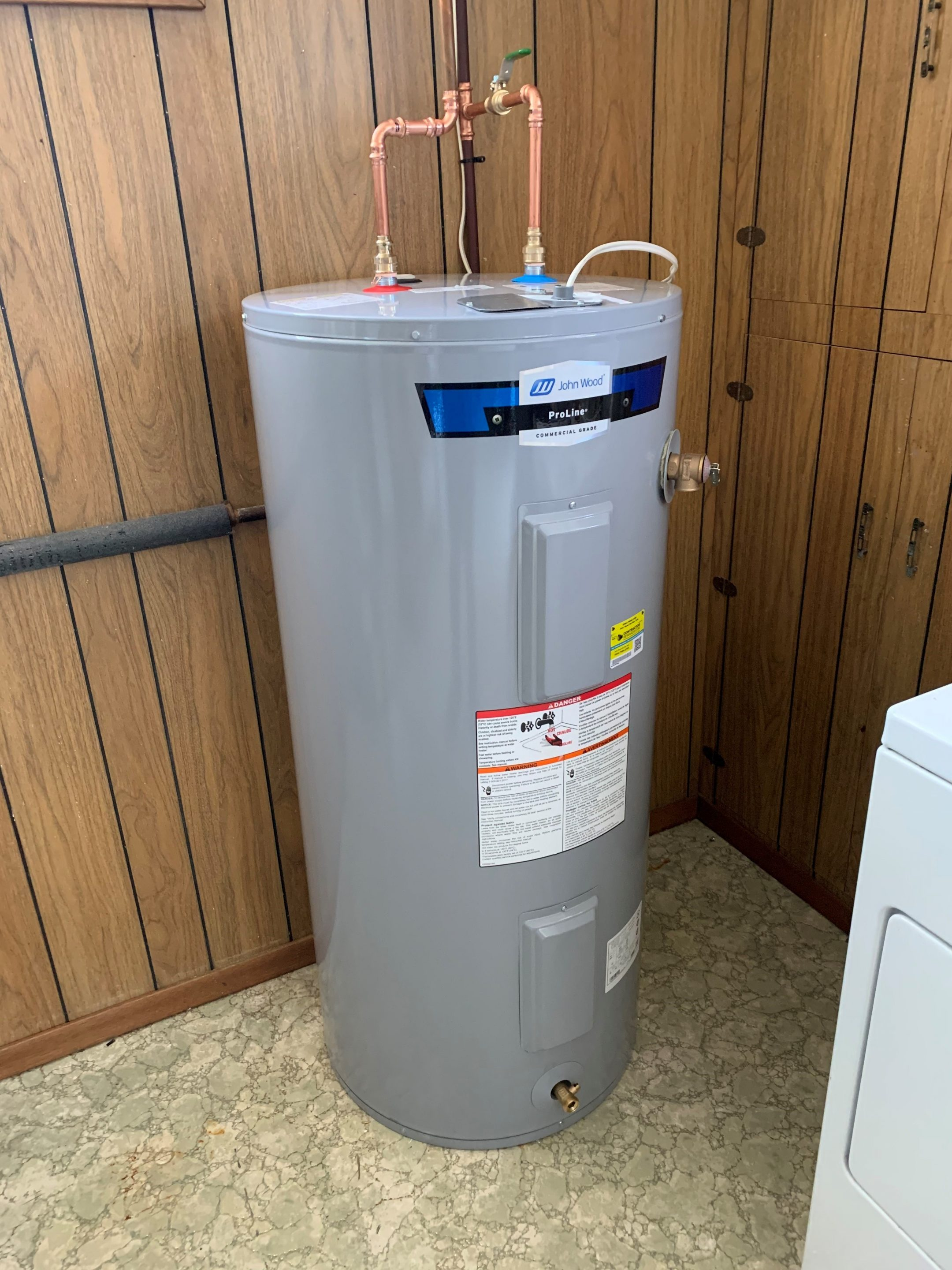 Installing a water heater